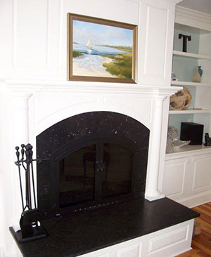 Wilson Building Co | Nantucket Home Builder | Fireplace Mantel
